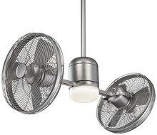 Minka-Aire F306L-BS/SL - ELEMENTAL GYRO FAN WITH LED