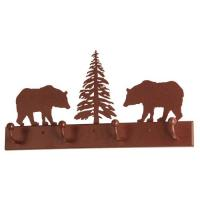 "Meyda Tiffany 134177 - 24""L Bear on the Loose 4 Hooks Coat Rack"