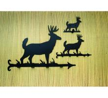 "Meyda Tiffany 22389 - 12""W Lone Deer Key Holder"