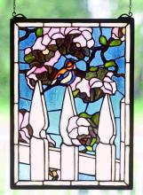 "Meyda Tiffany 48001 - 13""W X 18""H Picket Fence Stained Glass Window"