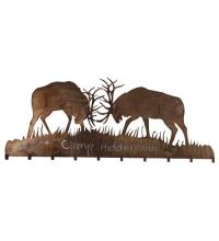 "Meyda Tiffany 81543 - 60""W Battling Bucks 10 Hooks Coat Rack"