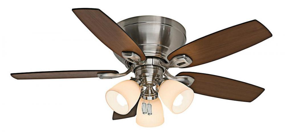 44 ceiling fan with light brushed nickel 44