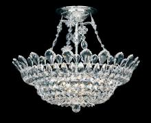 Schonbek 5797A - Trilliane 10 Light 110V Close to Ceiling in Silver with Clear Spectra Crystal