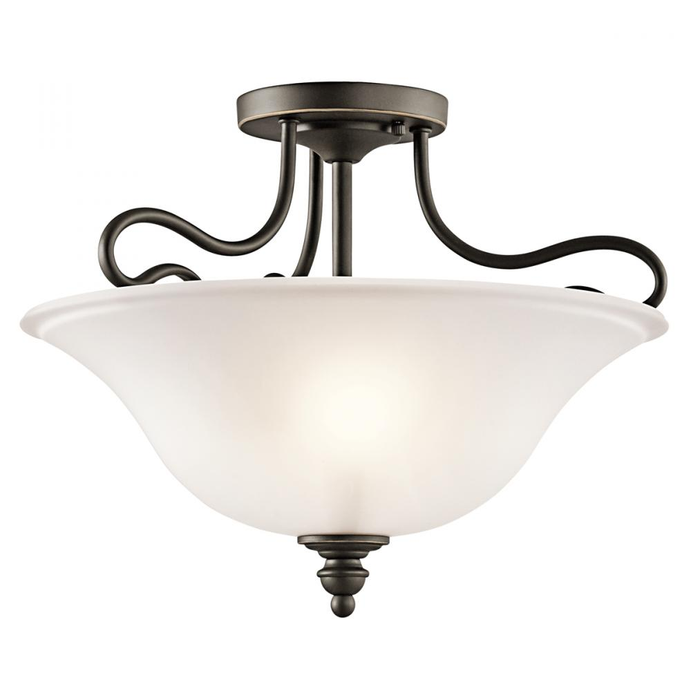 Wolberg Electrical Supply Inc in Albany, New York, United States, Kichler 42900OZL16, Semi Flush 2Lt LED, Tanglewood