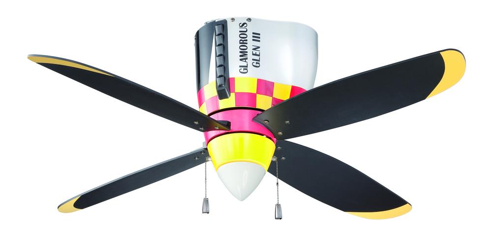 48 ceiling fan with light 2 blade warplanes 48