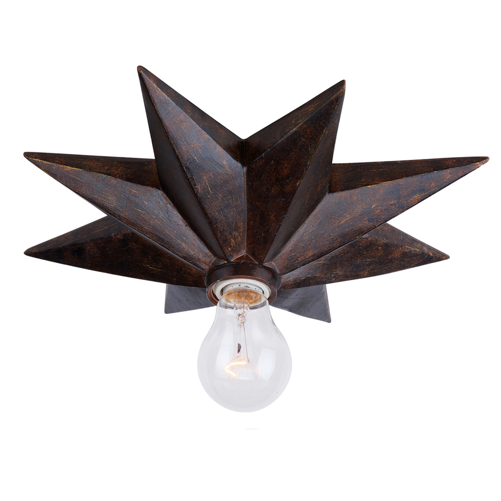 Wolberg Electrical Supply Inc in Albany, New York, United States, Crystorama 9230-EB_CEILING, Crystorama Astro 1 Light English Bronze Flush Mount, Astro