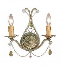Crystorama 4712-BI - Green Sconce