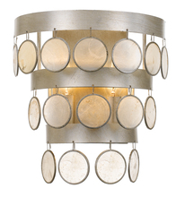 Crystorama 6002-SA - Crystorama Coco 2 Light Antique Silver Sconce