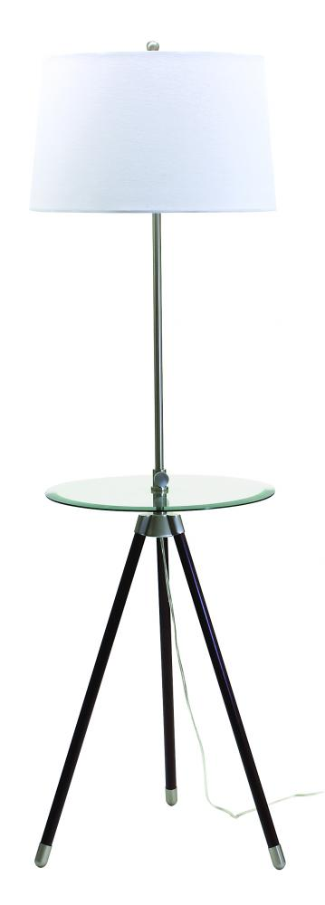 Wolberg Electrical Supply Inc in Albany, New York, United States, House of Troy TR202-SN, Tripod Adjustable Floor Lamp with Glass Table, Tripod