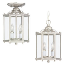 Sea Gull 5232-962 - Two Light Semi-Flush Convertible Pendant