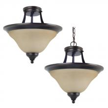 Sea Gull 77174-710 - Two Light Semi-Flush Convertible Pendant