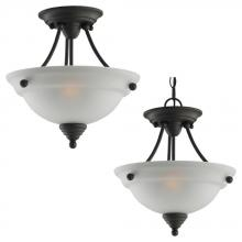 Sea Gull 77575-782 - Two Light Ceiling Semi-Flush / Pendant