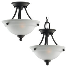 Sea Gull 77625-782 - Two Light Semi-Flush Convertible Pendant