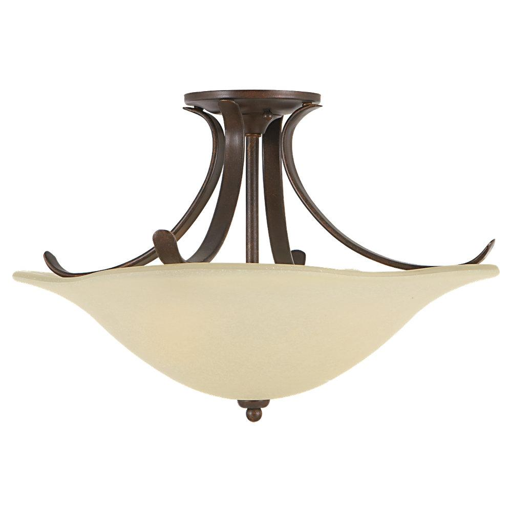Wolberg Electrical Supply Inc in Albany, New York, United States, Feiss SF214GBZ, 3- Light Indoor Semi-Flush Mount, Morningside