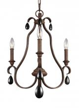 Feiss F3069/3WI - 3 - Light Chandelier