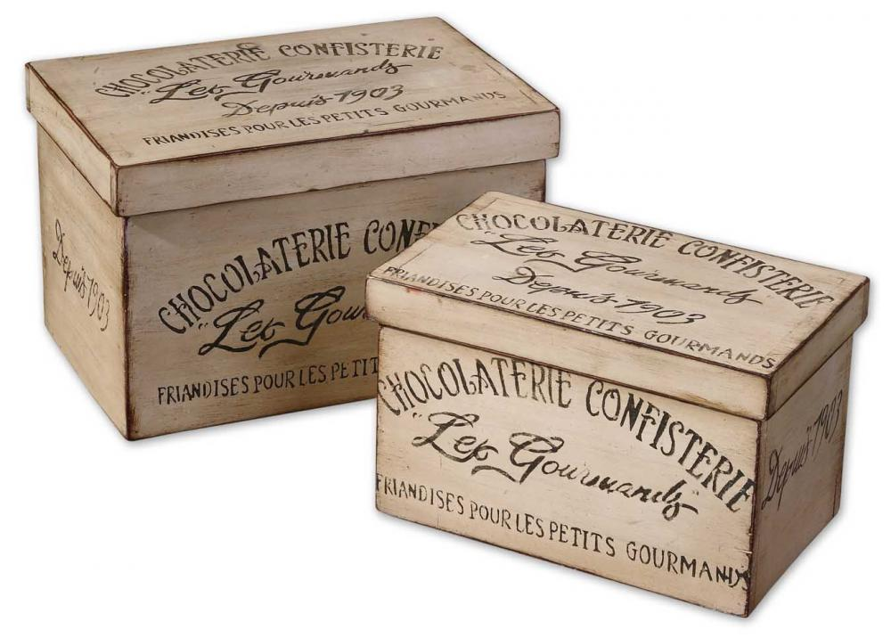 Wolberg Electrical Supply Inc in Albany, New York, United States, Uttermost 19300, Uttermost Chocolaterie Decorative Boxes, Set/2, Chocolaterie