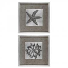 Uttermost 41548 - Uttermost Starfish & Coral Shadow Box Art, S/2