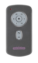 Fanimation TR29 - Hand Held Six Speed DC Motor Remote and Transmitter - Charcoal