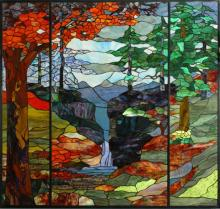 "Meyda Tiffany 107815 - 46.5""W X 49""H Tiffany River of Life Stained Glass Window"