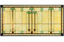 "Meyda Tiffany 150018 - 60""W X 30""H Ginkgo Stained Glass Window"