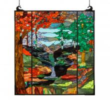 "Meyda Tiffany 151060 - 47""W X 76""H Tiffany River of Life Stained Glass Window"
