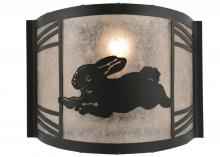 "Meyda Tiffany 157298 - 12""W Rabbit On The Loose Left Wall Sconce"