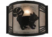 "Meyda Tiffany 157301 - 12""W Raccoon On The Loose Right Wall Sconce"