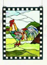 "Meyda Tiffany 32580 - 17""W X 22""H Rooster Window"