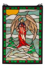 "Meyda Tiffany 38118 - 12""W X 17""H Winter Angel Stained Glass Window"