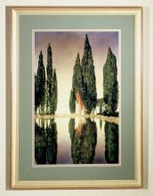 "Meyda Tiffany 46438 - 24""W X 33""H Maxfield Parrish Reservoir Framed Art"