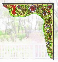 "Meyda Tiffany 65222 - 22""W X 23.5""H Serpent Right Corner Bracket Window"