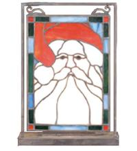 "Meyda Tiffany 65250 - 9.5""W X 10.5""H Santa Head Lighted Mini Tabletop Window"