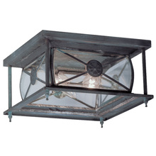 Charcoal Livex Lighting 2094-61 Outdoor Post with Clear Beveled Glass Shades